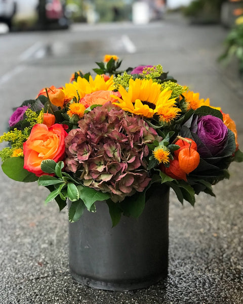 Vibrant Seasonal Vase Arrangement
