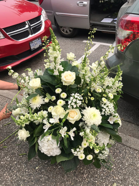 Large Whites Container Arrangement