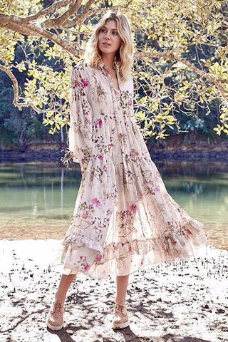 Lanterns Blossom Maxi Gown