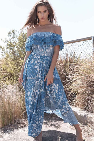Garden Party Off The Shoulder Maxi Dress