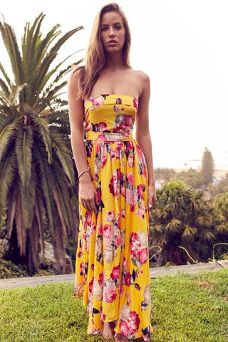 Ginger Rose Strapless Maxi Dress