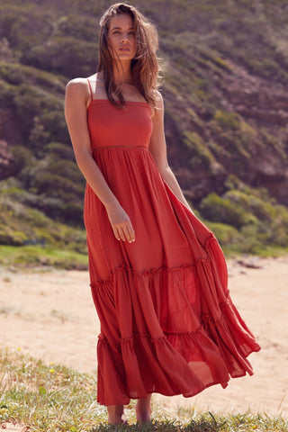 Billie - Rust Maxi Dress