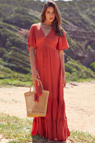Ashland - Rust Maxi Dress