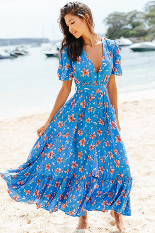 Paraiso Wrap Maxi Dress