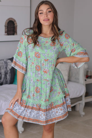 Dream - Aloha Mini Dress - Green