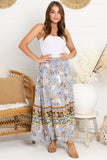 Soraya Maxi Skirt - Blue