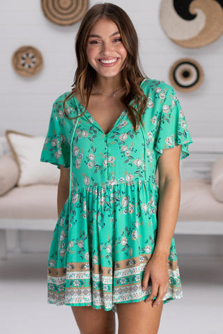 Ashley Playsuit - Green