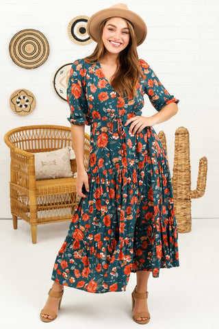 Marla Maxi Dress - Navy