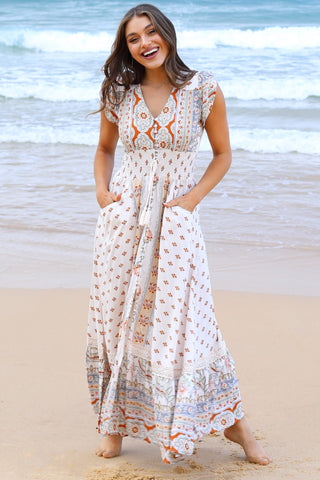 Carmen - Ocean Eyes Maxi Dress