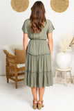 Ainsley Midi Dress - Khaki