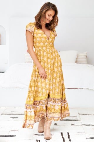 Carmen - Tumeric Maxi Dress