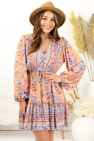 Ela - Dalton Mini Dress - Blush