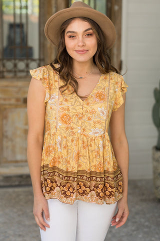 Paloma Top - Yellow