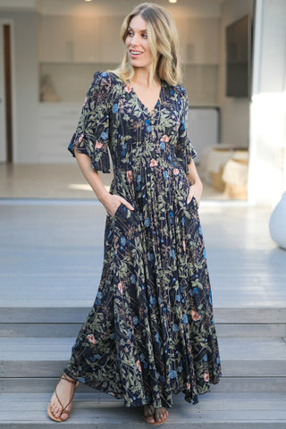 Renee Maxi Dress - Navy