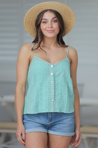 Hoian Crop Top - Green