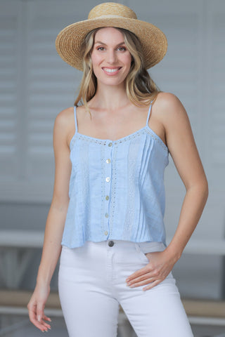 Hoian Crop Top - Blue