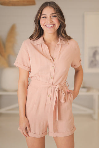Echo Playsuit - Blush