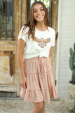 Leuven Mini Skirt - Blush