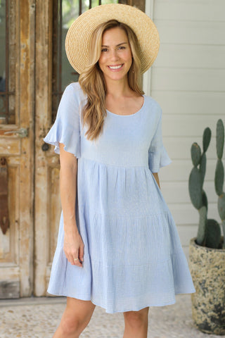 Amaya Mini Dress - Blue