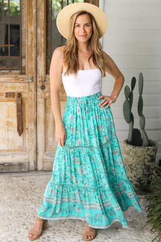 Peyton Maxi Skirt/Midi dress - Green