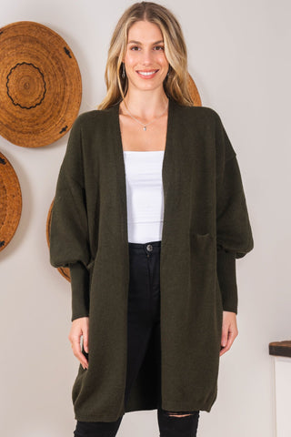 Charlie Cardigan - Military Green
