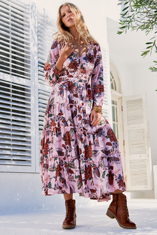Carmen Indigo Maxi Dress