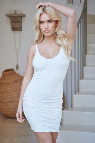 Phoenix Basic Mini Dress - Off White