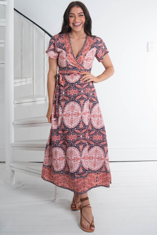 Oana Wrap Maxi Dress