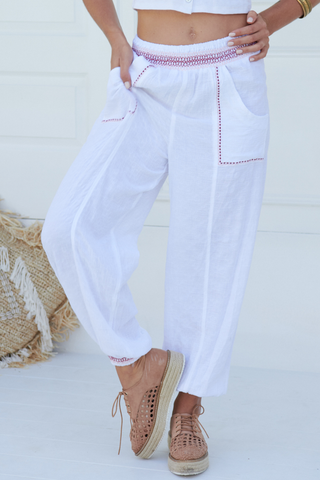 Inka Pants - White