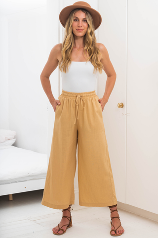 Deja Linen Pants - Natural