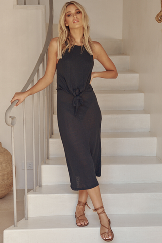 Patto Midi Dress - Black
