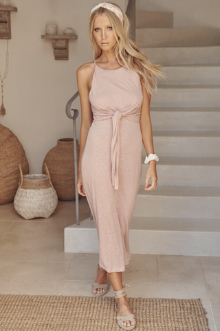 Patto Midi Dress - Rose