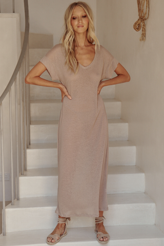 Avalon Dress - Oatmeal