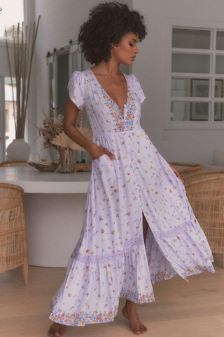 Carmen - Lavender Fields Maxi Dress