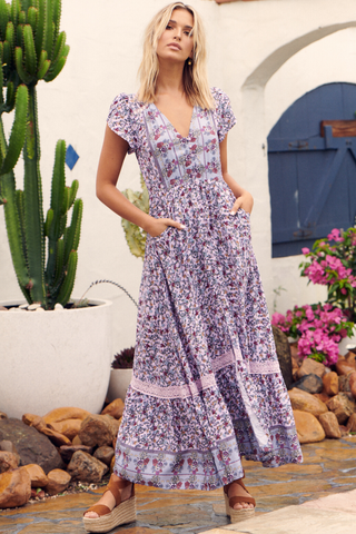 Kila Maxi Dress - Blue