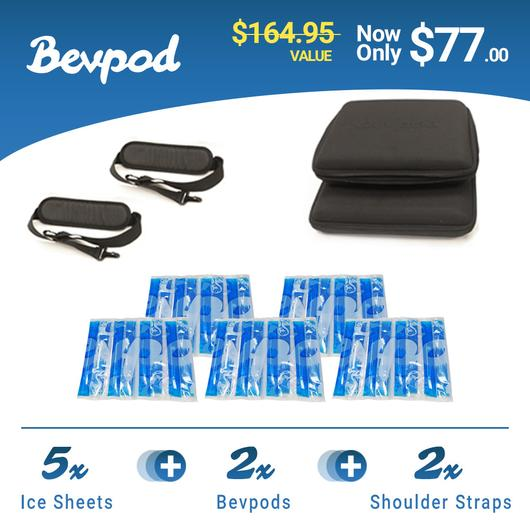 2 Bevpod Bundle + 3  Reusable Ice Sheets