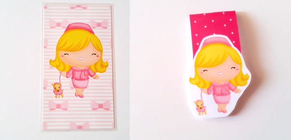 pink blonde planner dashboard or magnetic bookmark