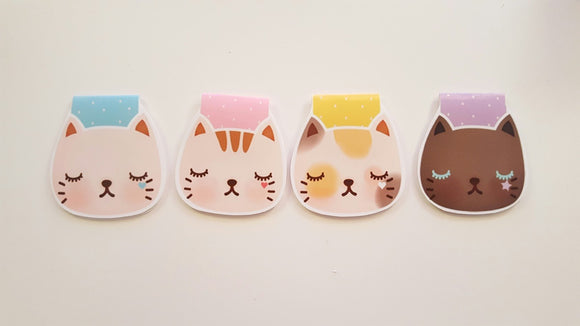sassy kitties magnetic bookmarks