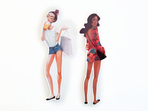 sketch fashion girls Page markers