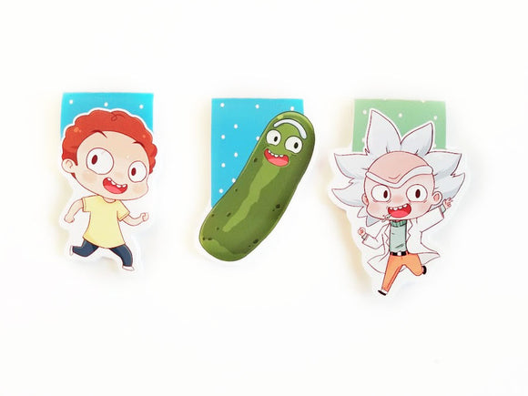 Rick and Morty magnetic bookmarks