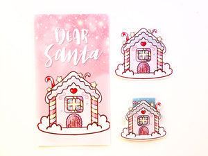 Pastel Gingerbread house planner Dashboard or magnetic bookmark or Die Cut