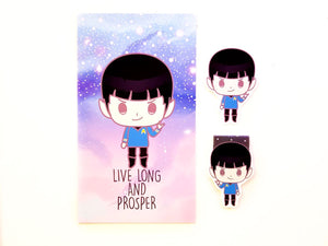 Spock planner Dashboard or magnetic bookmark or Die Cut