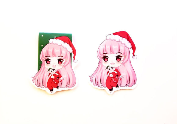 Christmas time Elodie magnetic bookmark or die cut