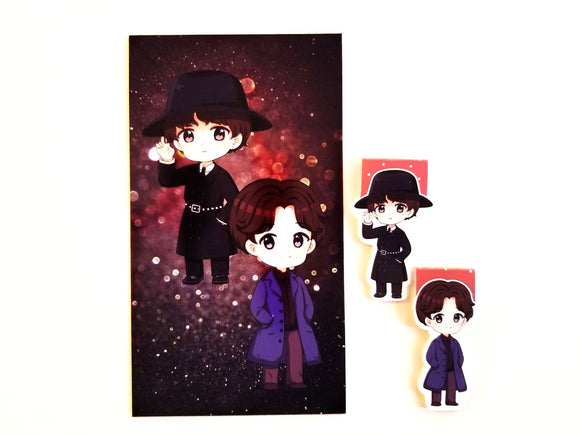 Goblin kdrama dashboard or magnetic bookmark