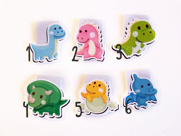 Dinosaur magnetic bookmarks