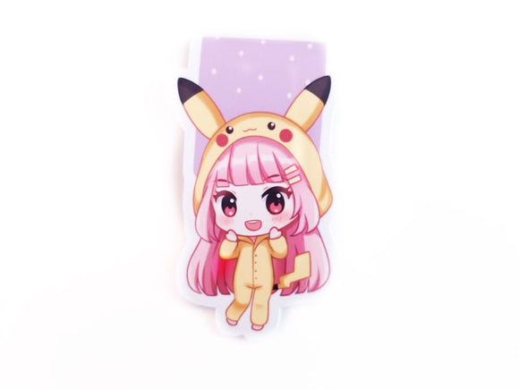 Pika Elodie magnetic bookmark