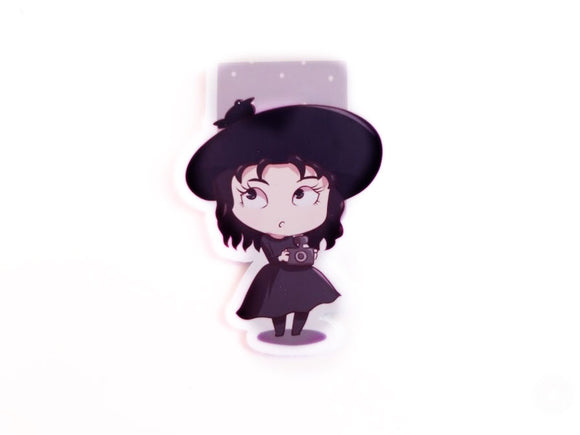 Lydia D black outfit magnetic bookmark