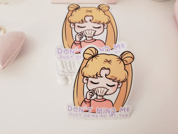 Usagi Tea Time Vinyl Sticker