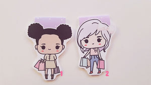 Cutie Shopaholics magnetic bookmarks