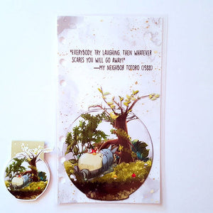totoro terrarium magnetic bookmark